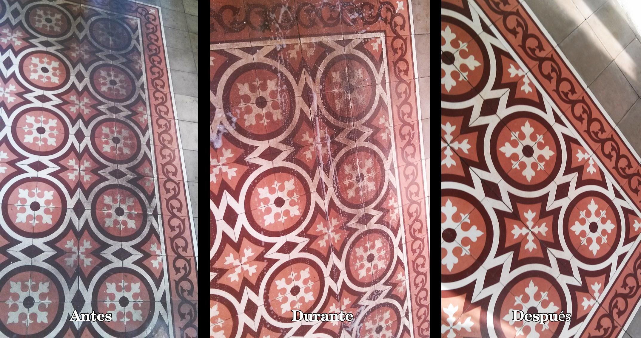 C mo recuperar un suelo de mosaico hidr ulico muy deteriorado for Suelo hidraulico antiguo