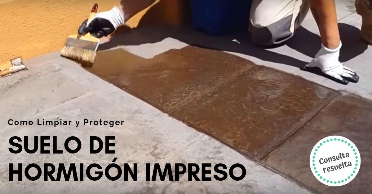 C mo limpiar y proteger suelo de hormig n impreso - Como limpiar suelo porcelanico ...